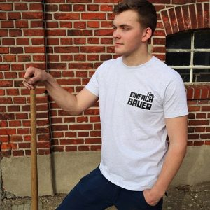 Einfach Bauer Shirt Hellgrau