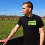 Einfach Bauer Shirt schwarz grün