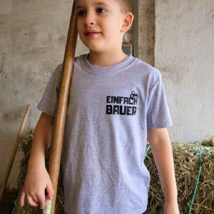 Die Einfach Bauer Kinder Shirts Grau Schwarz
