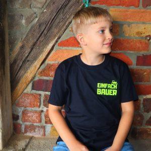 Einfach Bauer Shirt Kinder Schwarz
